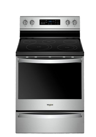 Cuisinière Whirlpool stainless fond transparent 3